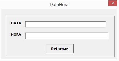 Tela de Retorno de Data e Hora - Como Acessar Dados da Internet Usando Programação VBA no Excel