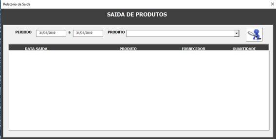 Relatório de Saídas - Sistema de Controle de Estoque 2.0 em Excel VBA e MySQL