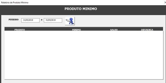Relatório de Estoque Mínimo - Sistema de Controle de Estoque 2.0 em Excel VBA e MySQL