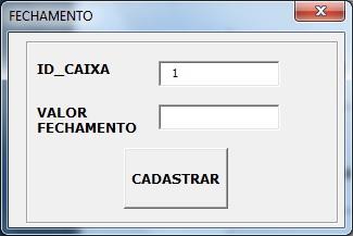 Tela de Cadastro de Marcas - Sistema de Controle de Vendas em Excel VBA