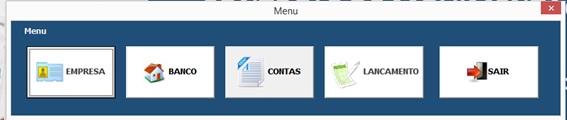 Menu Principal do Sistema - Planilha de Controle Bancário Empresarial com Excel e VBA - Controle de Movimentações Bancárias