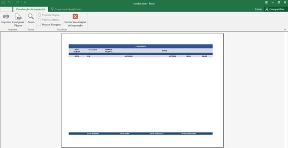 Relatório de Lançamentos - Planilha de Controle Bancário Empresarial com Excel e VBA - Controle de Movimentações Bancárias