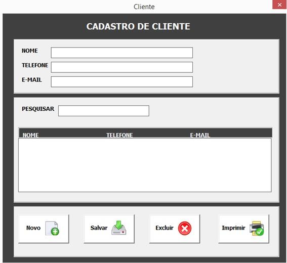 Formulário para Cadastro de Clientes e Aplicação de Permissões