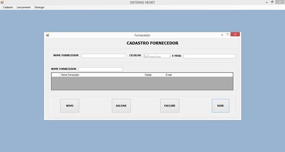 Controle de Produtos com VB.NET e SQL Server Express - Cadastro de Fornecedores