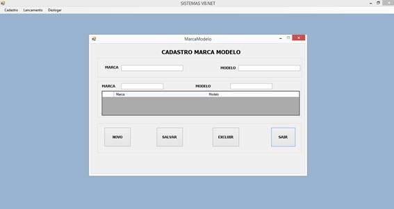 Controle de Produtos com VB.NET e SQL Server Express - Cadastro de Marc/Modelo