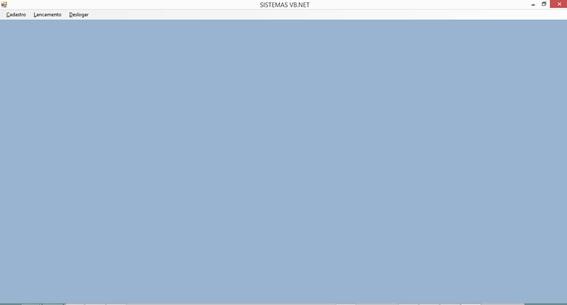 Controle de Produtos com VB.NET e SQL Server Express - Tela Principal do Sistema