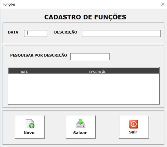 Planilha para Documentação de Rede e Infraestrutura de TI - Cadastro de Funções