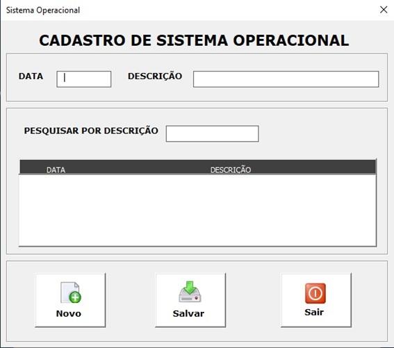 Planilha para Documentação de Rede e Infraestrutura de TI - Sistema Operacional