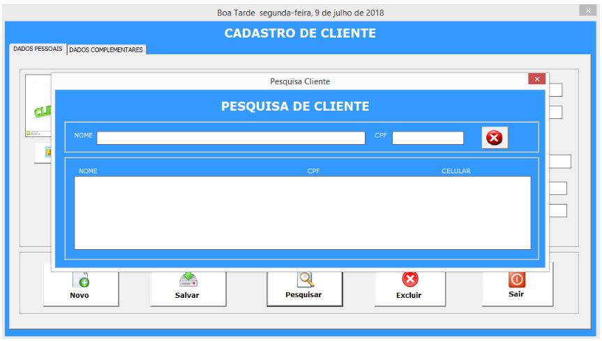 Planilha de Cadastro de Clientes com VBA no Excel - Pesquisa de Cliente