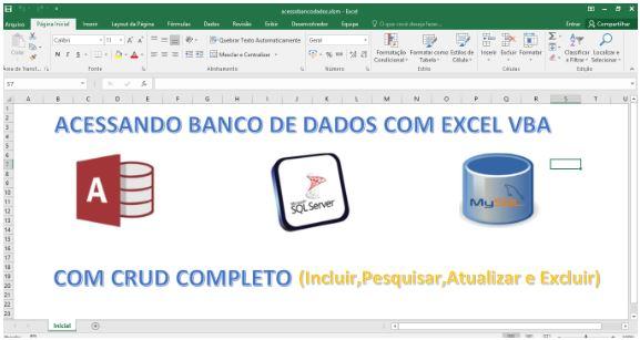 Tela de Entrada - CRUD em Excel e VBA