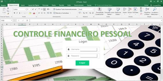 Tela de Logon - Controle Financeiro Pessoal em Excel e VBA