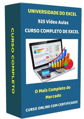 Curso Completo de Excel - Curso Online com Certificado - 925 Video Aulas - 22 Cursos - 120:42 horas