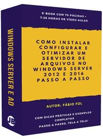 Você vai entender desde a Teoria, até a Instalação e Configuração de Servidores de Arquivos com o Windows Server e o Active Direcoty. Servidores que Atendam as Reais Necessidades da sua Empresa!