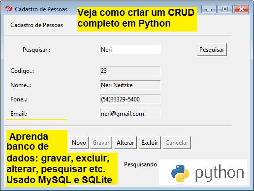 Crie um CRUD Completo com Python - Programação Python e Conexão com Banco de Dados